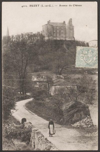 Château de Buzet en 1905