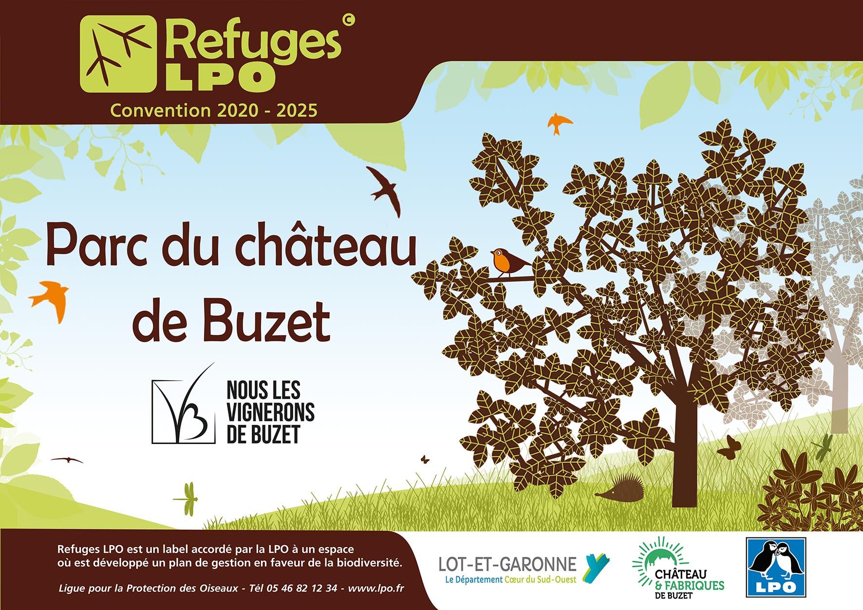 Refuge LPO parc château de Buzet
