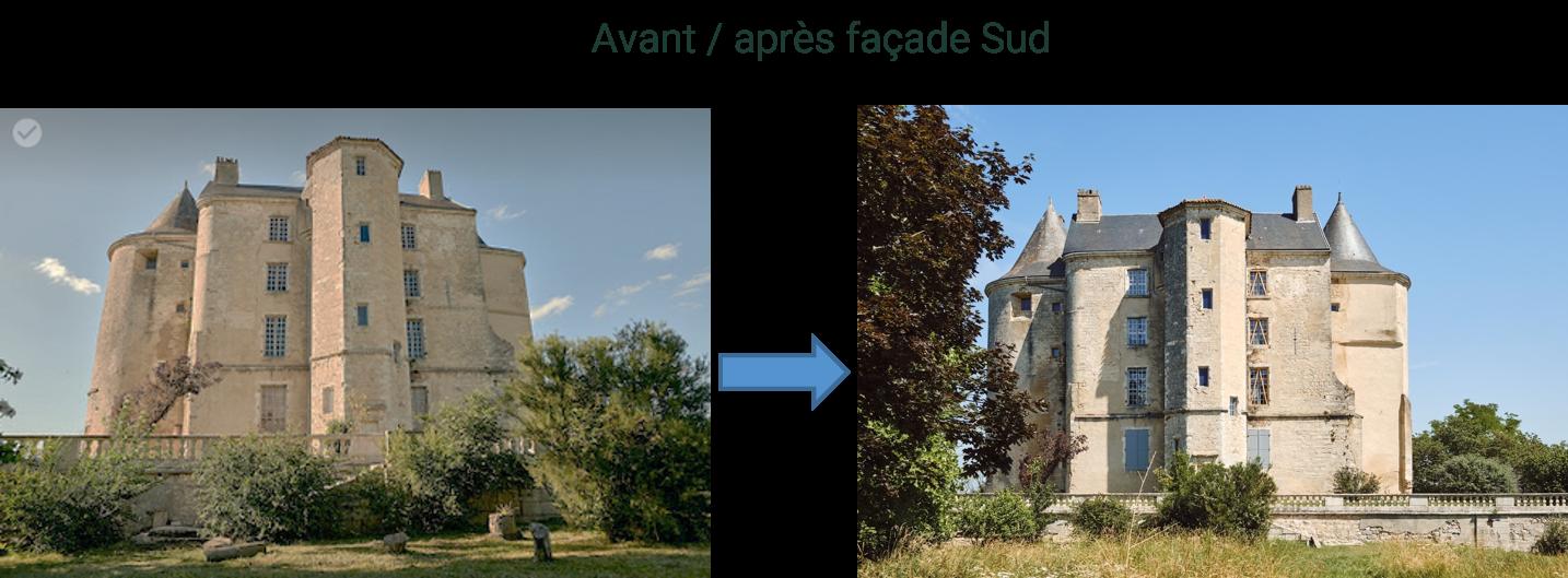 Avant / après façade sud