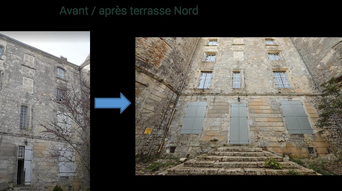 Avant / après terrasse Nord